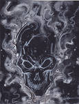 Ghost Rider white flames