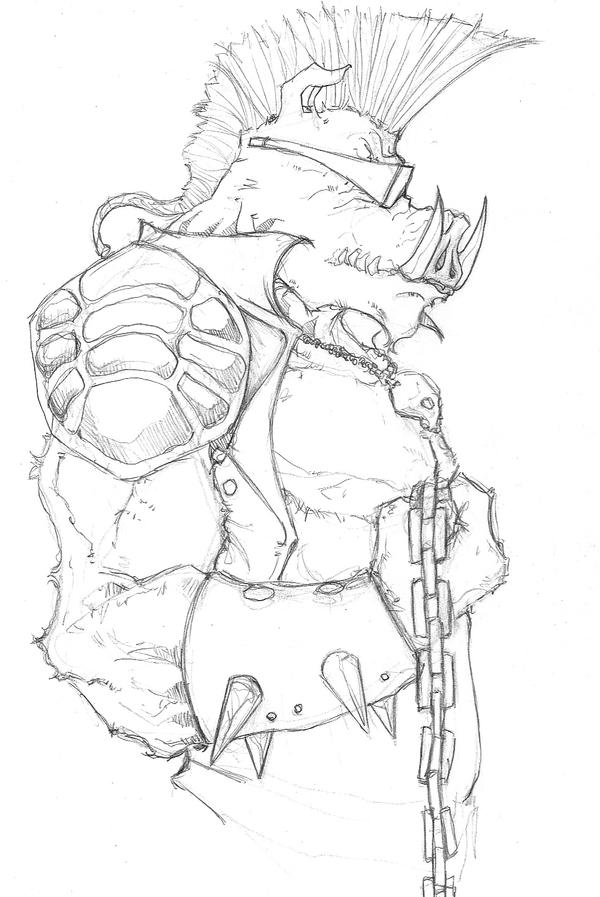 Donatello Ninja Turtle Coloring Pages Bebop TMNT by ChrisOzF...