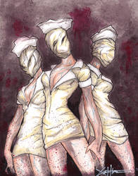 Silent Hill Nurses by ChrisOzFulton