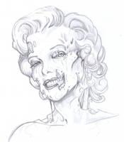 Zombie Marilyn Monroe by ChrisOzFulton