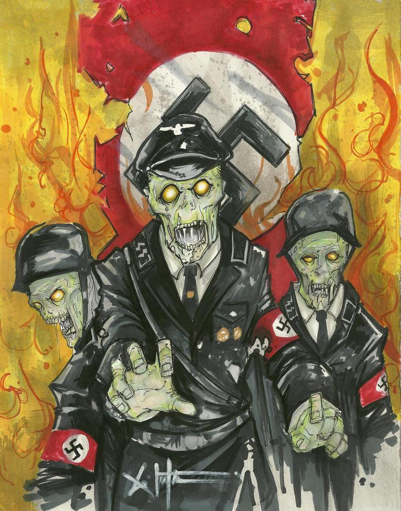 Nazi Zombie by ChrisOzFulton
