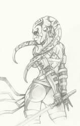 Darth Talon pencil by ChrisOzFulton