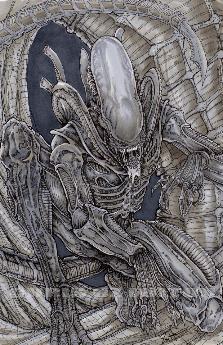 Xenomorph alien color by ChrisOzFulton