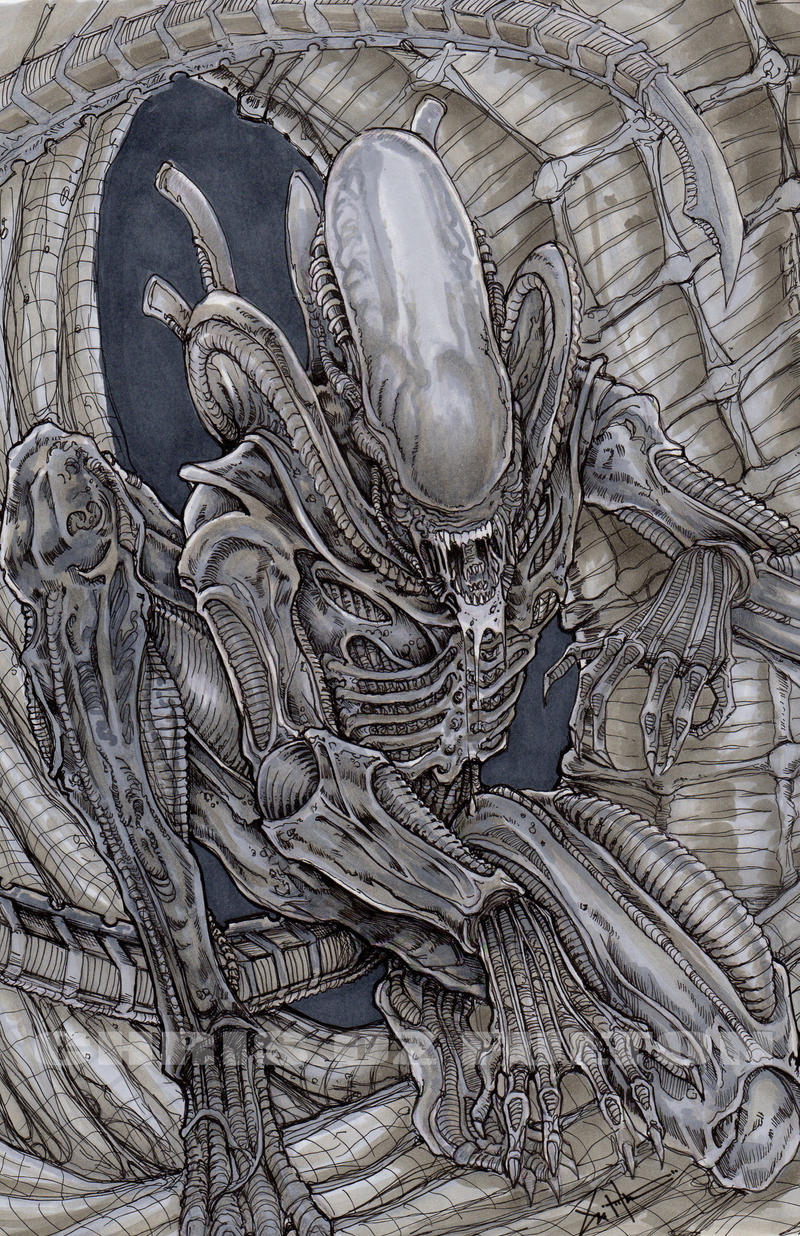 Xenomorph alien color by ChrisOzFulton