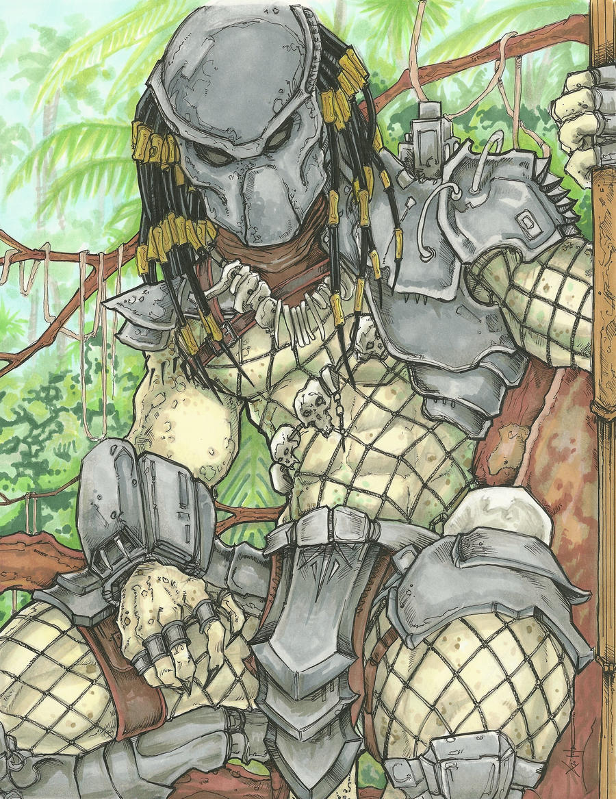 Predator Yautja color by ChrisOzFulton