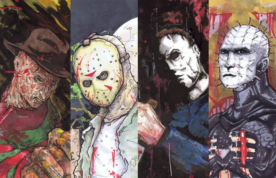 Freddy Vs Jason Vs Chucky Vs Michael Myers Vs Pinhead Freddy Jason Mi...