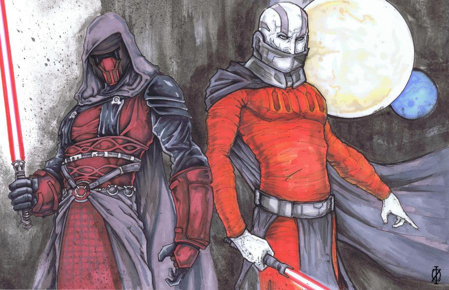 Darth Revan Darth Malak Star Wars KOTOR by ChrisOzFulton