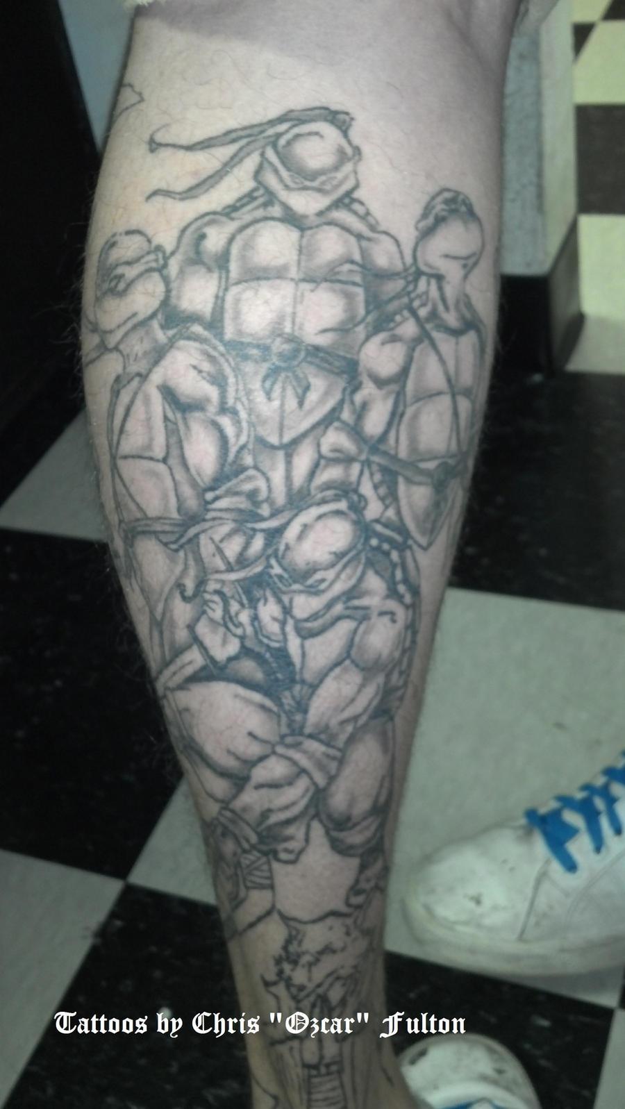Ninja Turtles Tattoo TMNT by ChrisOzFulton
