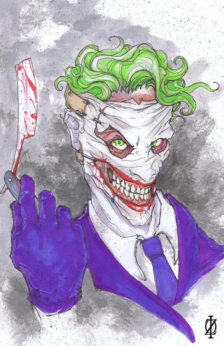 Joker's new face by ChrisOzFulton
