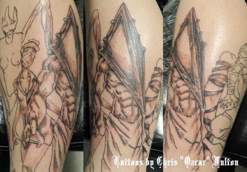 Pyramid Head Tattoo by ChrisOzFulton