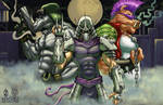 TMNT Shredder Bebop Rocksteady