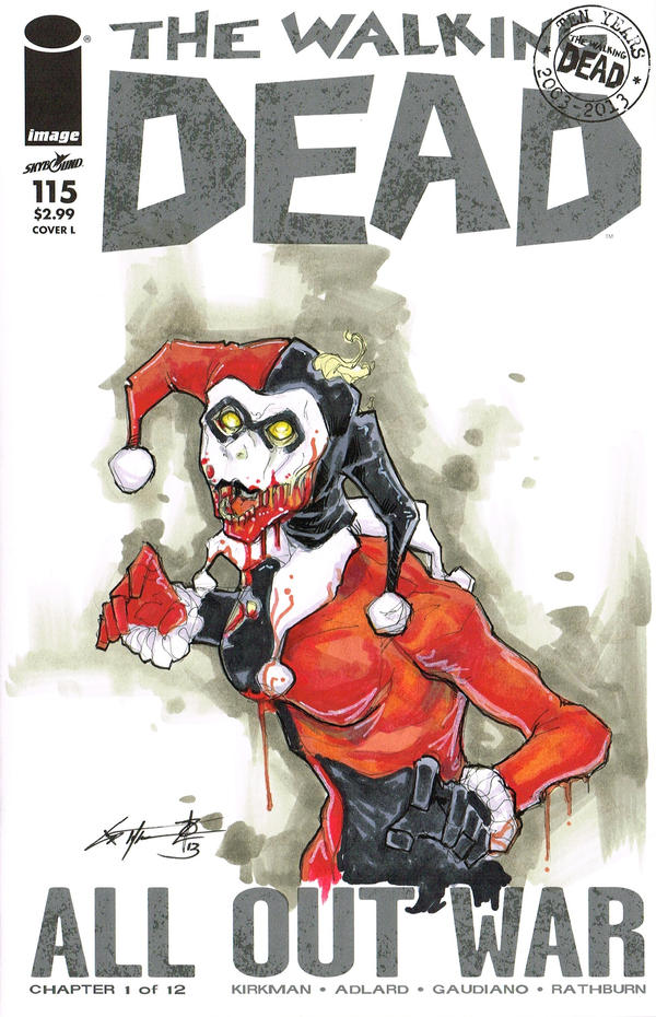 Harley Quinn Walking Dead commission by ChrisOzFulton
