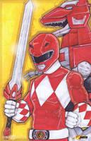 Red Power Ranger Austin St. John by ChrisOzFulton