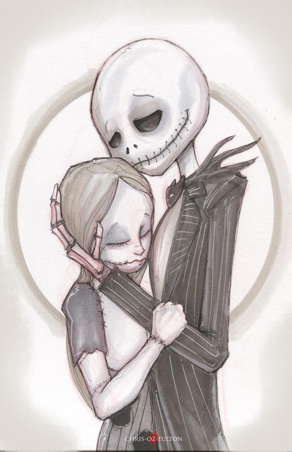 Jack and Sally The Nightmare Before Christmas by ChrisOzFulton