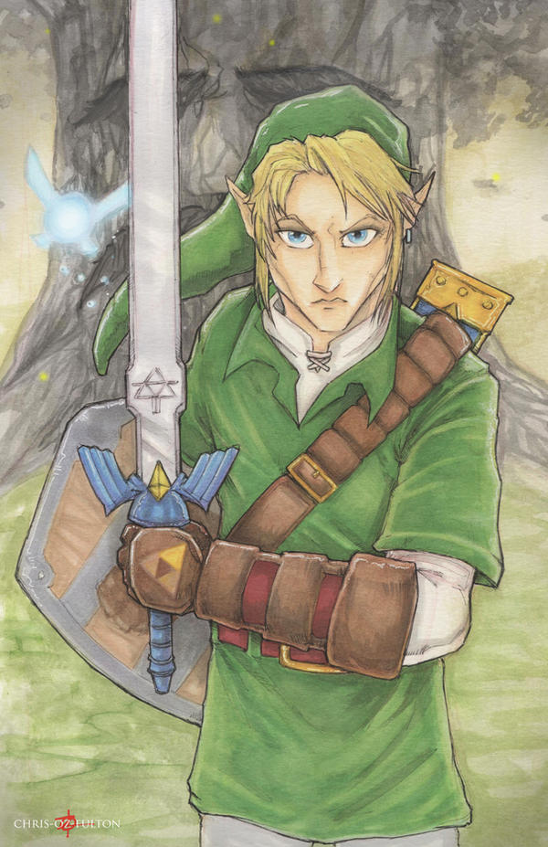 Link Legend Of Zelda by ChrisOzFulton