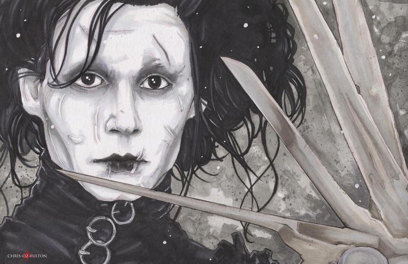 Edward Sissorhands Johnny Depp by ChrisOzFulton