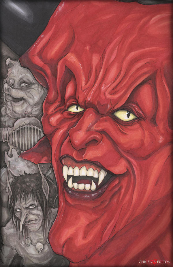 Tim Curry Darkness Legend by ChrisOzFulton