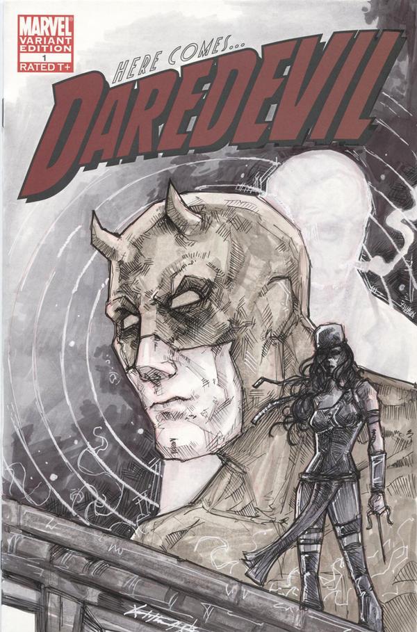 Daredevil Sketch Cover Commission by ChrisOzFulton