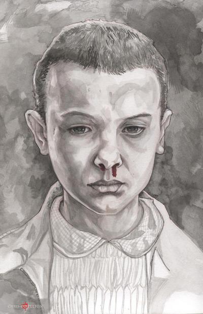 Eleven Stranger Things Millie Bobby Brown by ChrisOzFulton