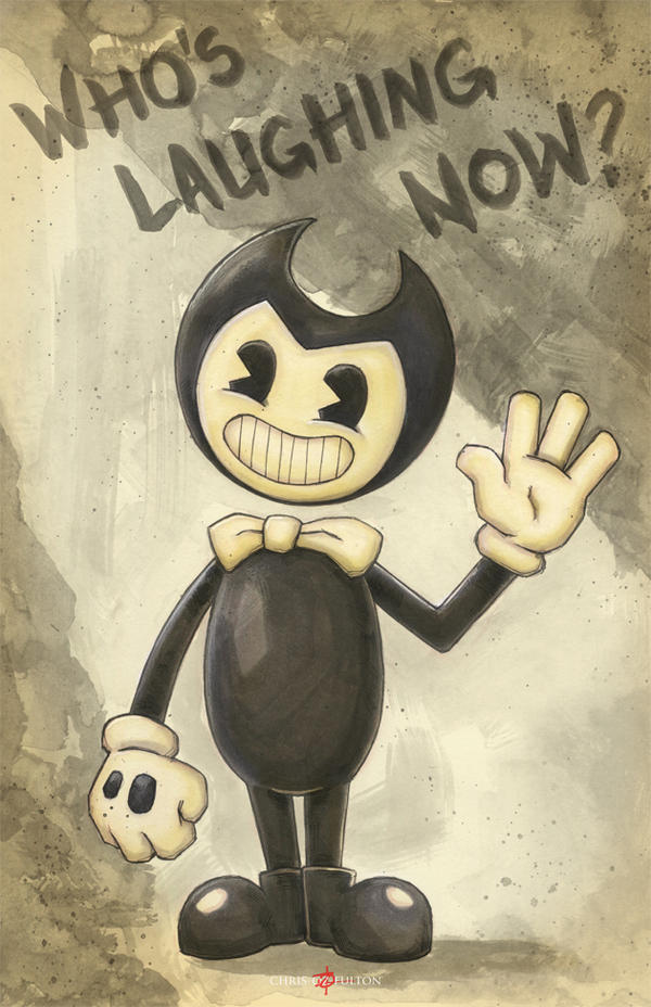 Bendy And The Ink Machine Cartoon Bendy by ChrisOzFulton