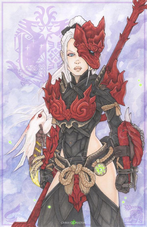 Monster Hunter World Odogaron Female Beta Armor by ChrisOzFulton