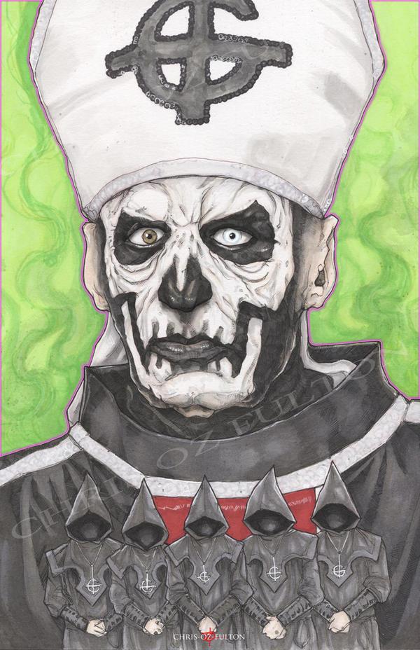 The Band Ghost Papa Emeritus 1 by ChrisOzFulton