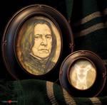 Harry Potter Severus Snape and Patronus Framed Set
