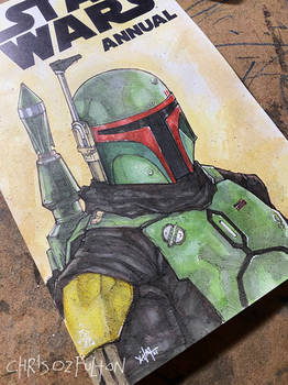 Star Wars Boba Fett Mandalorian Sketch Cover Art
