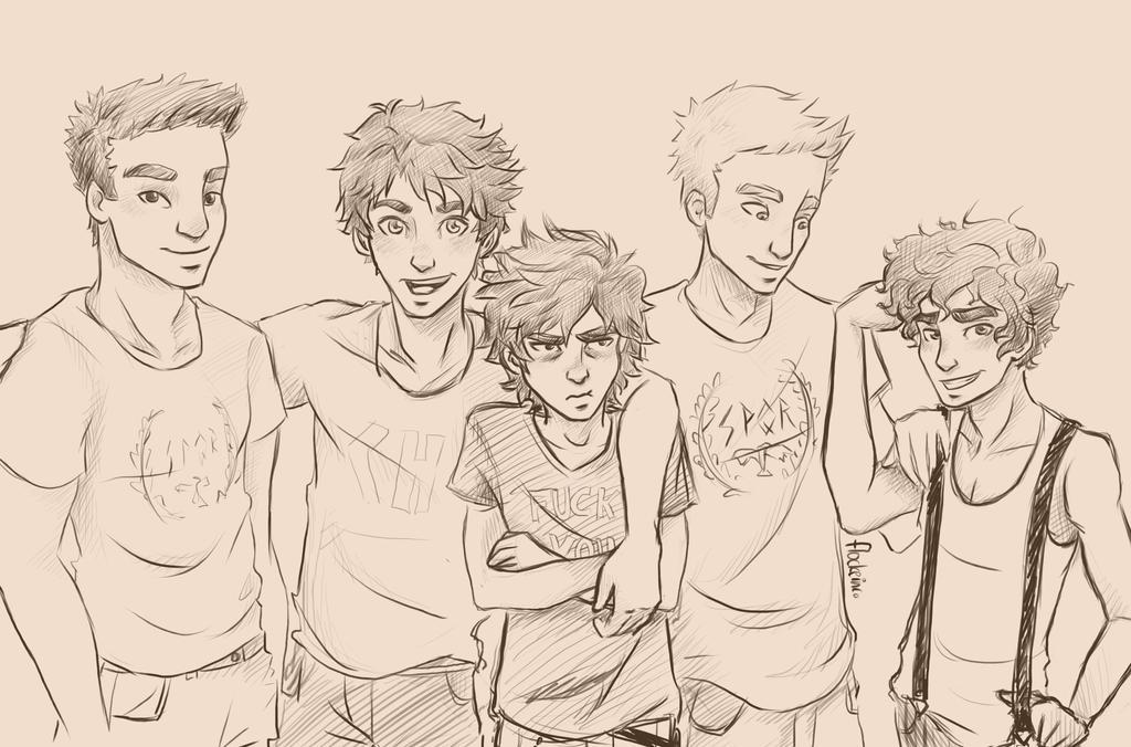 Heroes of Olympus Boys - Remake by FlockeInc