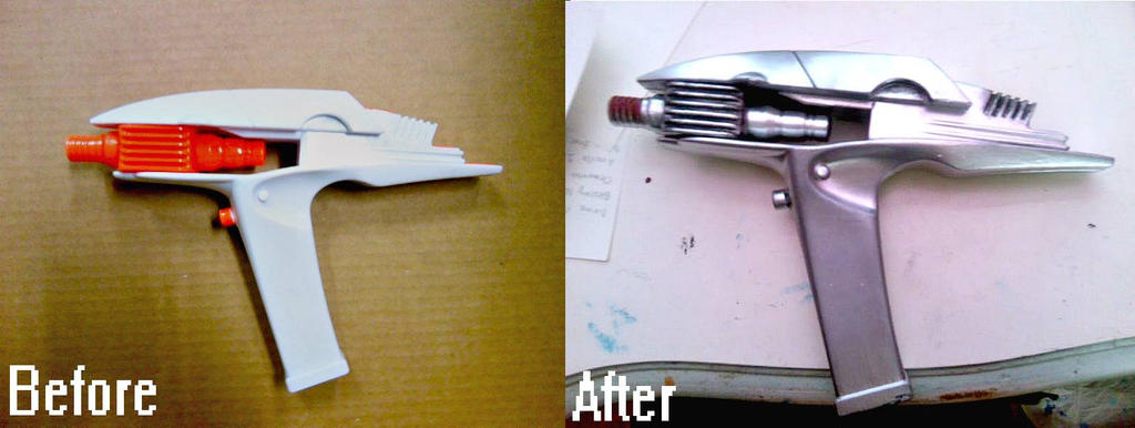 Prop Painting - Star Trek Phasers by eloquium