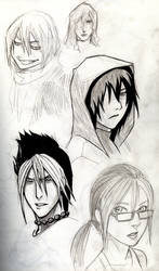 Ponzi characters by KevinRaganit