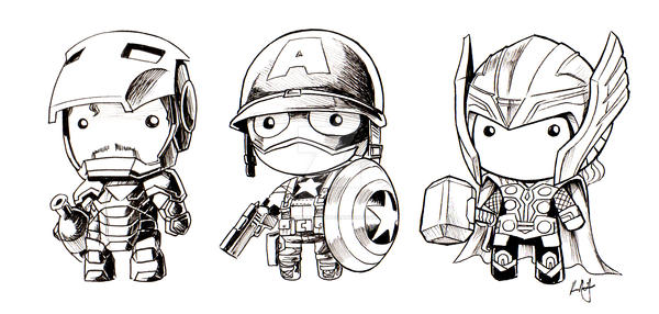 Avengers assemble doll by KevinRaganit