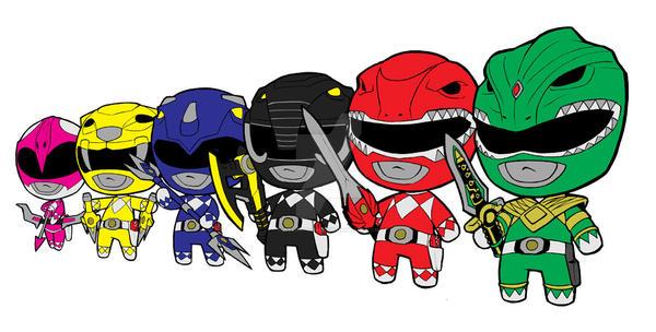 Lil Rangers Chibi Doll By Kevinraganit On Deviantart