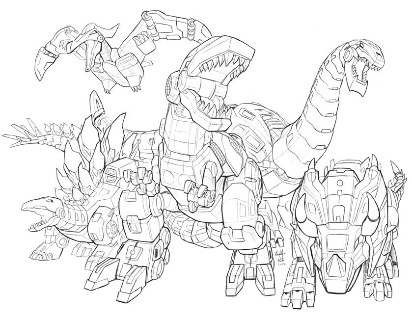 Dinobots roar WIP by KevinRaganit on DeviantArt