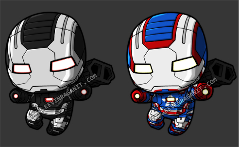 lil war machine and iron patriot by kevinraganit on deviantart