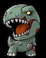 Lil Zombie Rex by KevinRaganit