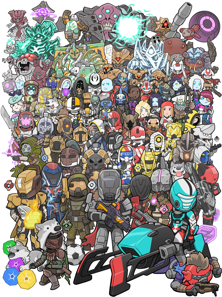 2016 Bungie 25th Anniversary Destiny Poster