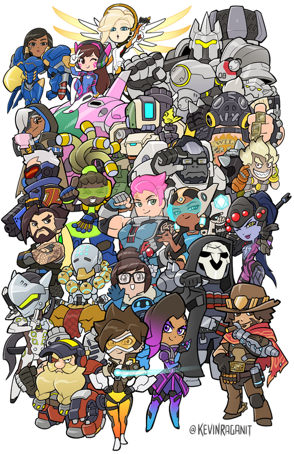 Overwatch Heroes Groupshot by KevinRaganit
