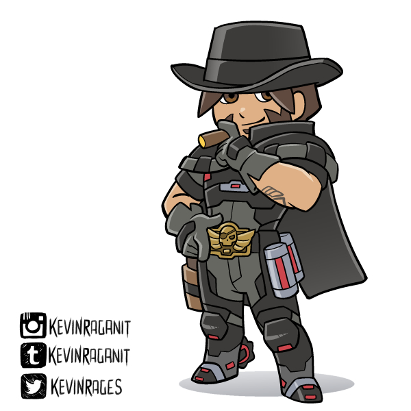 Blackwatch McCree Overwatch Insurrection by KevinRaganit