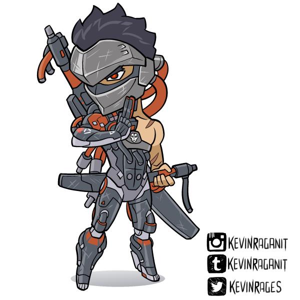 Blackwatch Genji Overwatch Insurrection by KevinRaganit