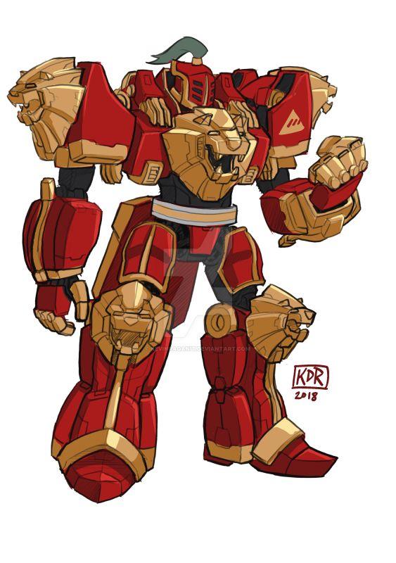 New Monarchy Titan Megazord Voltron Mash by KevinRaganit