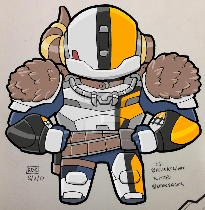 Destiny Lord Shaxx 2017 Color by KevinRaganit