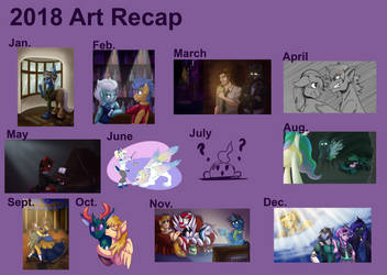 2018 Art Recap by CountessMRose