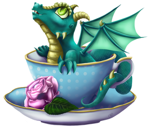 Teacup Dragon by CountessMRose