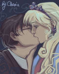 Harry and Luna kiss