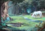 Luna in the Forbidden forest