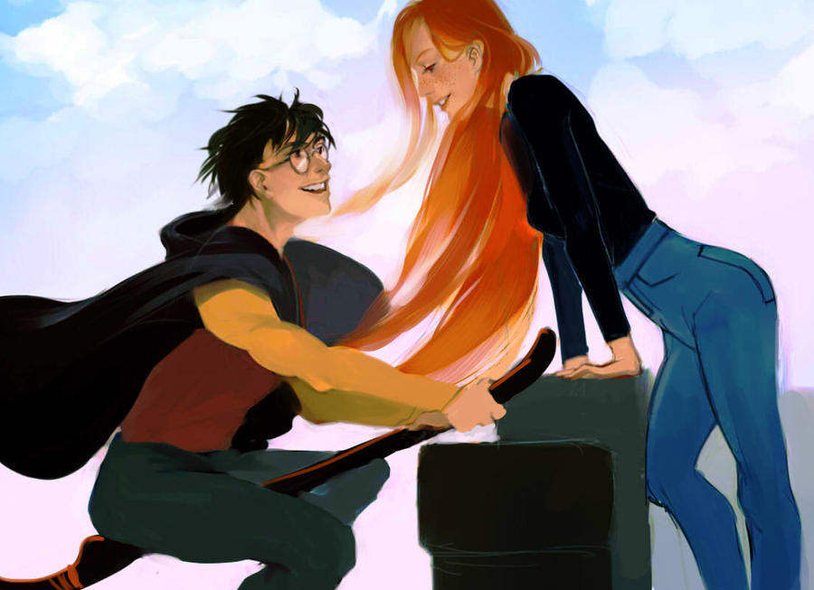 Lmrourke   Harry And Ginny By Merychess