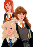 Luna Hermione and Ginny