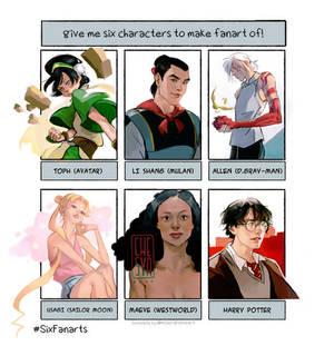 six fanarts challenge