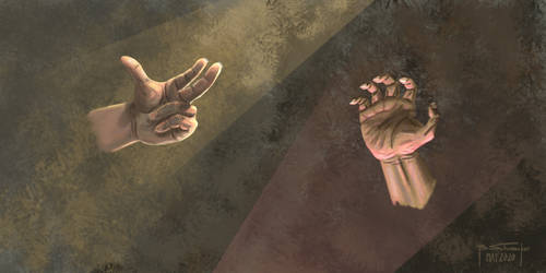 Dark and Light Hands